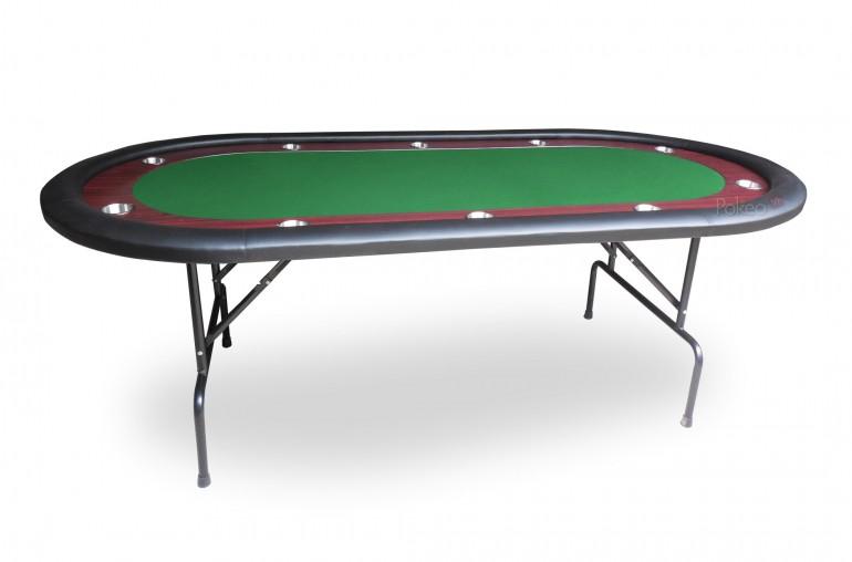 Table de poker racetrack (vert)