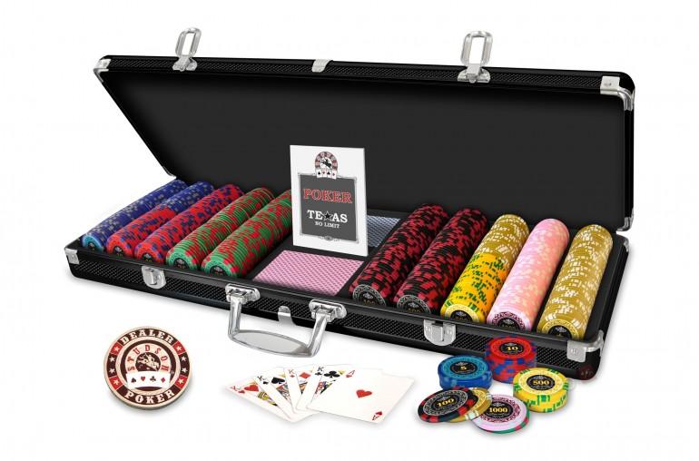 Pack Studson  Poker Royal 500 jetons + Tapis Studson vert