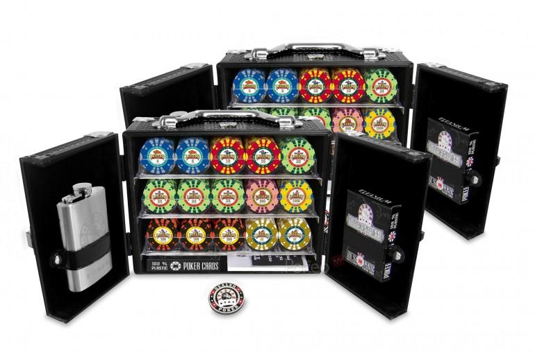 2 Coffrets Tanker Legend of Poker 300 jetons (noir)