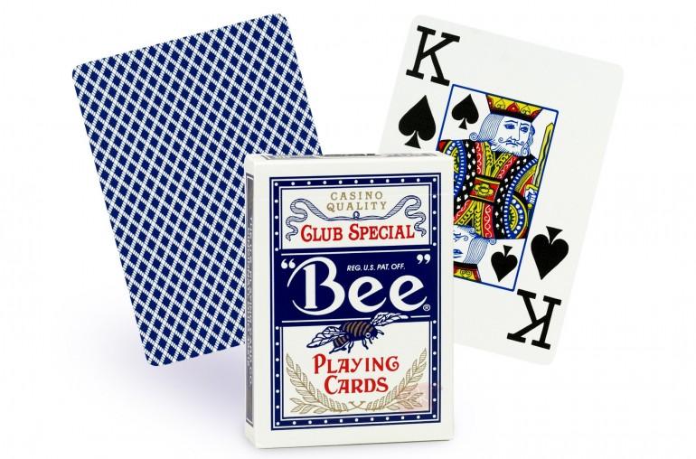 Cartes Bee Poker Jumbo (bleu)