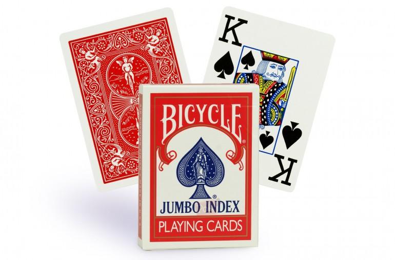 Cartes Bicycle Rider Back Jumbo (rouge)