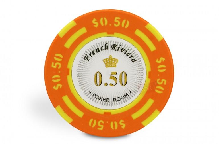 Rouleau de 25 jetons French Riviera $0,50