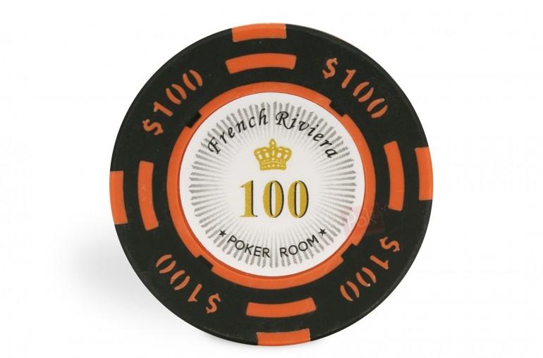 Rouleau de 25 jetons French Riviera $100