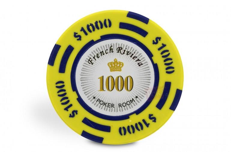 Rouleau de 25 jetons French Riviera $1000
