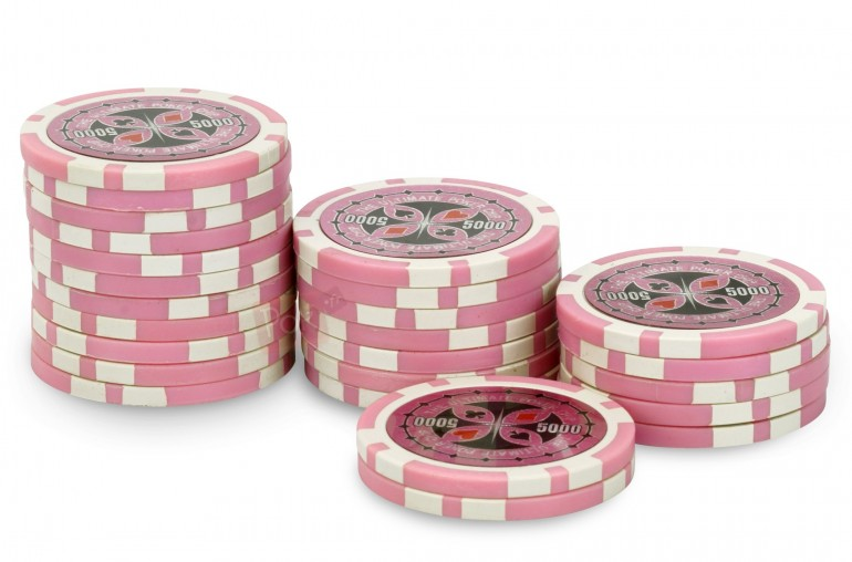 Rouleau de 25 jetons Ultimate Poker Chips 5000