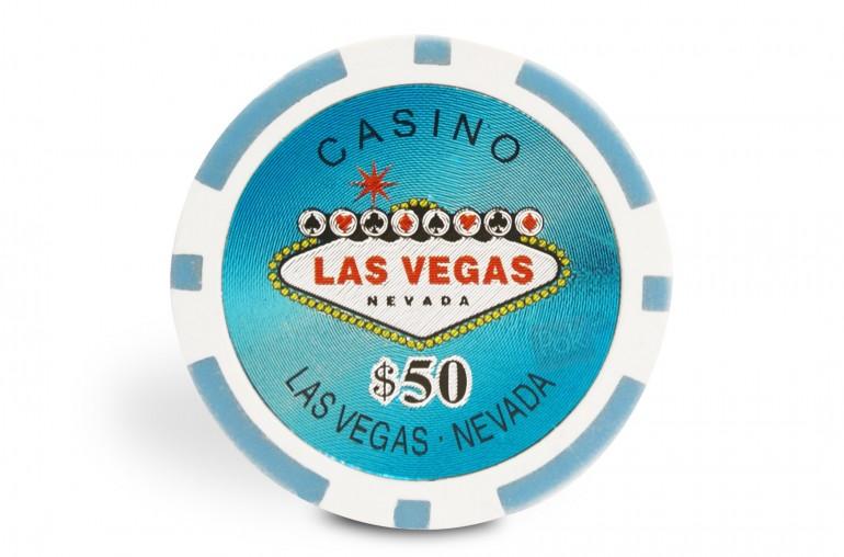 Rouleau de 25 jetons Laser Las Vegas $50
