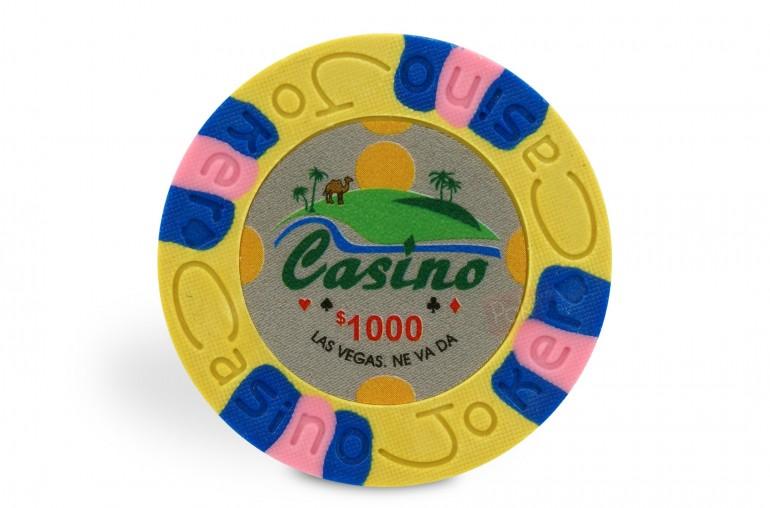 Rouleau de 25 jetons Casino Joker $1000