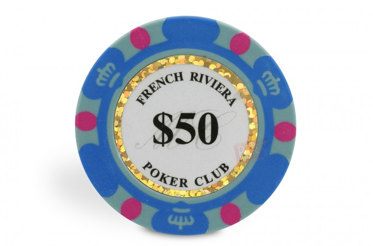 Rouleau de 25 jetons French Riviera Gold $50