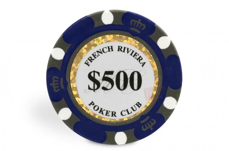 Rouleau de 25 jetons French Riviera Gold $500