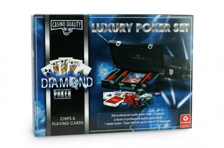 Coffret bois Diamond 200 jetons