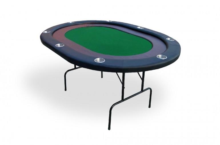 Table de poker 8 joueurs racetrack (vert)