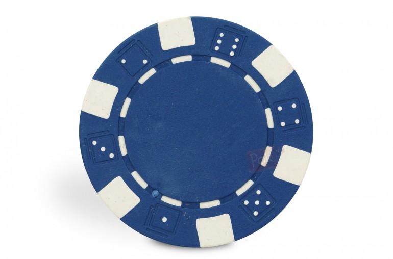 Rouleau de 25 jetons Dice bleu