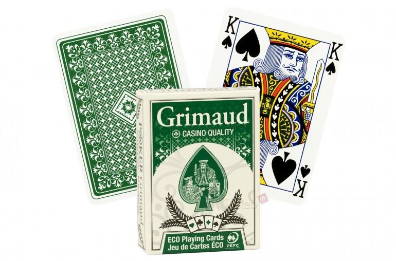 Cartes de poker Grimaud Éco (vert)