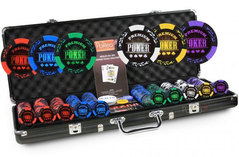 Mallette Premium Poker 500 Jetons