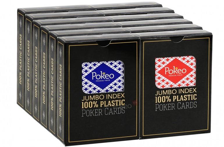 Pack de cartes 100% plastique x12