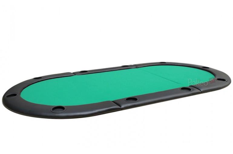 Plateau de poker 8/10 joueurs 180x90 (vert)