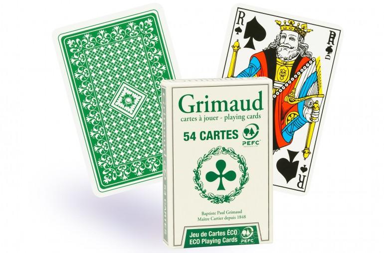 Cartes de bridge Grimaud Éco (vert)