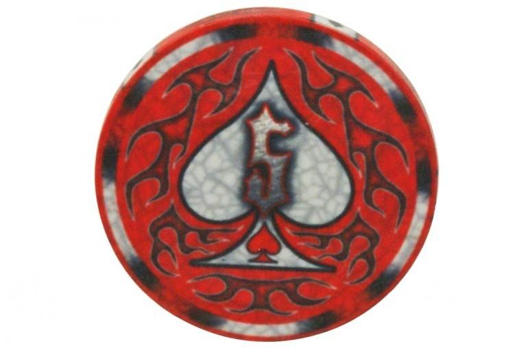 Jeton Wicked Spades 5$ rouge
