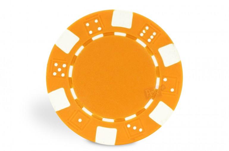 Rouleau de 25 jetons Dice orange
