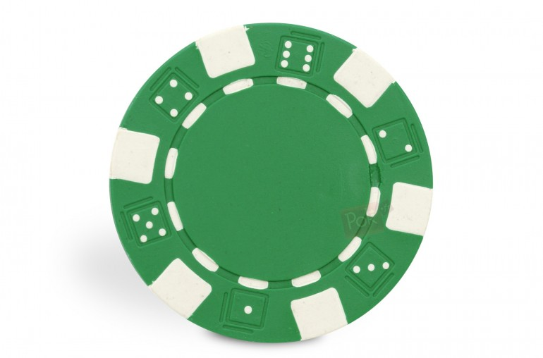 Rouleau de 25 jetons Dice vert
