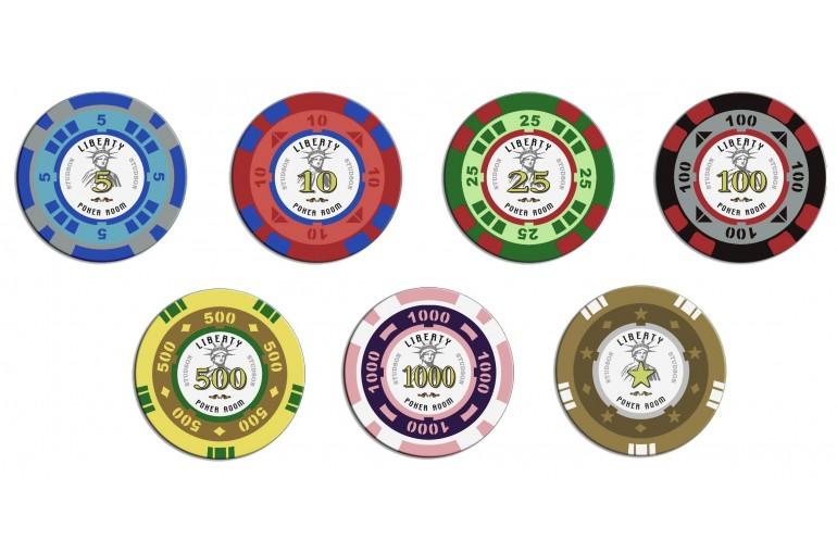 Mallette Poker Liberty 300 jetons