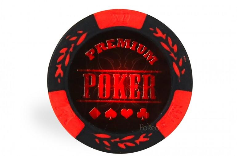 Rouleau 25 jetons Premium Poker Rouge