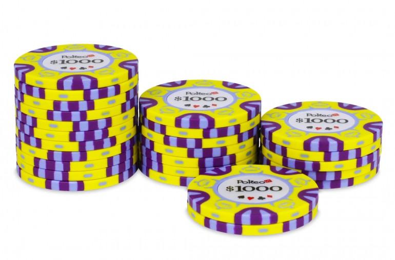 Rouleau de 25 jetons Pokeo Deluxe $1000