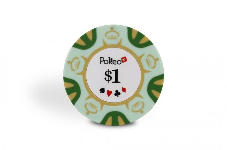 Rouleau de 25 jetons Pokeo Deluxe $1
