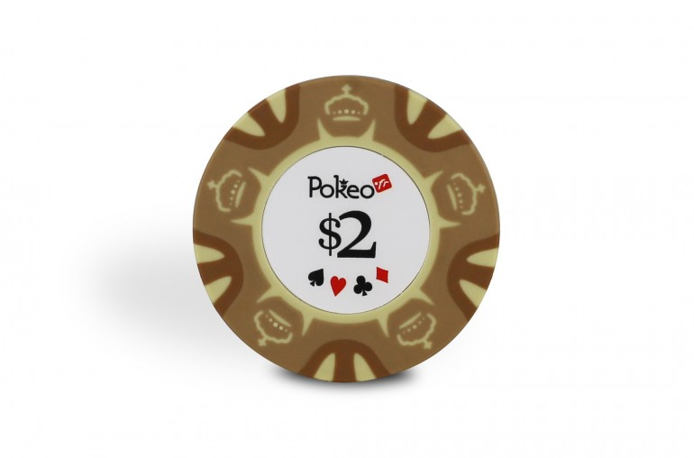 Rouleau de 25 jetons Pokeo Deluxe $2