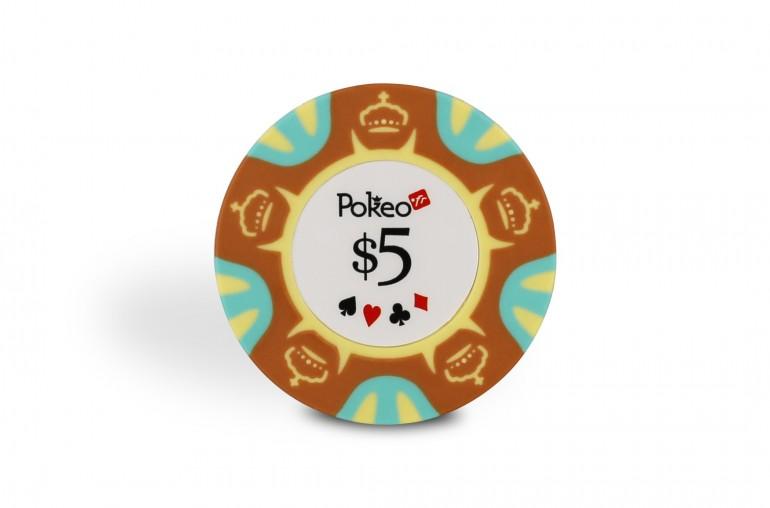 Rouleau de 25 jetons Pokeo Deluxe $5