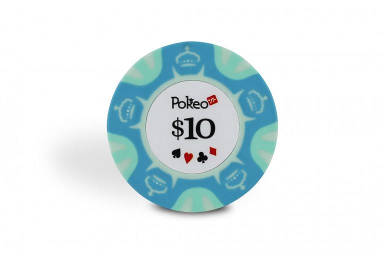 Rouleau de 25 jetons Pokeo Deluxe $10