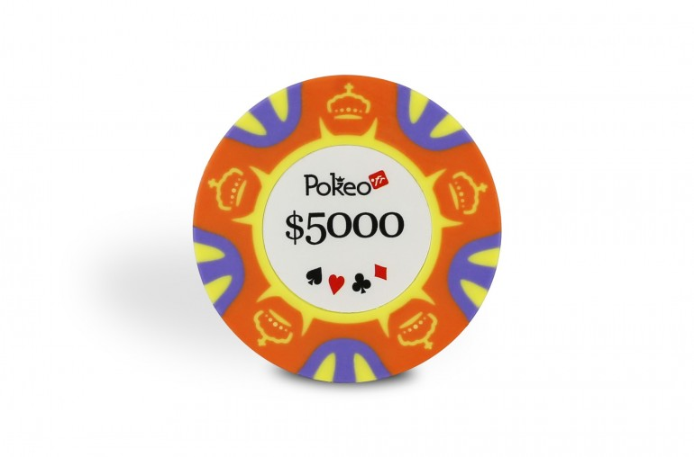 Rouleau de 25 jetons Pokeo Deluxe $5000