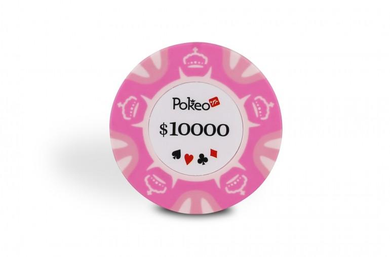 Rouleau de 25 jetons Pokeo Deluxe $10000