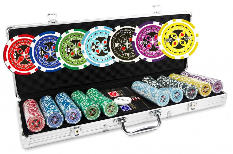 Mallette Ultimate Poker Chips 500 jetons