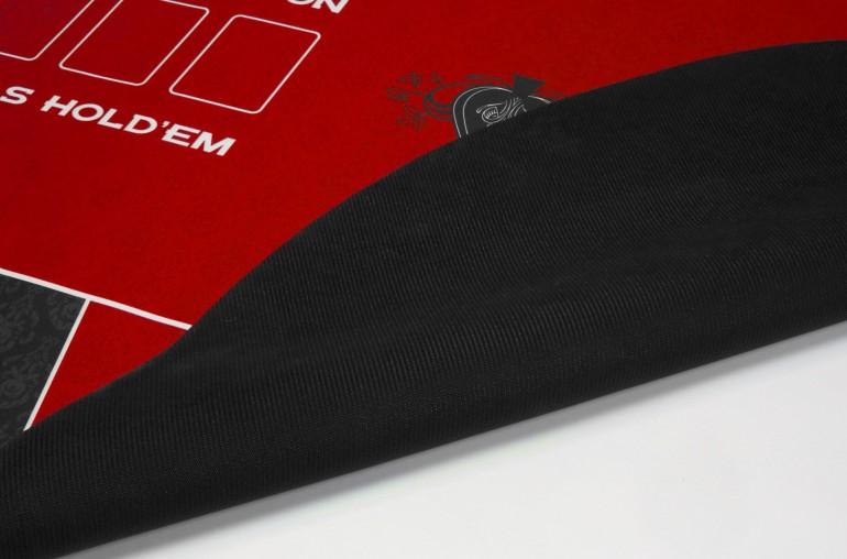 Tapis de Poker 180x90 Spade Rouge