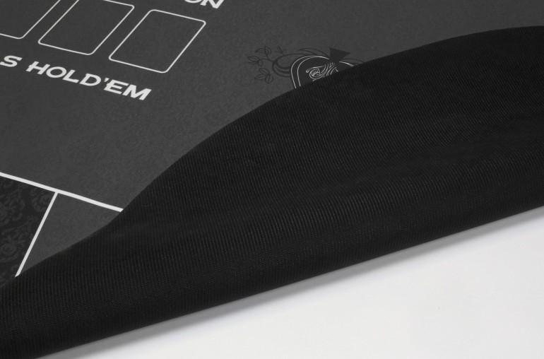 Tapis de Poker 180x90 Spade Noir