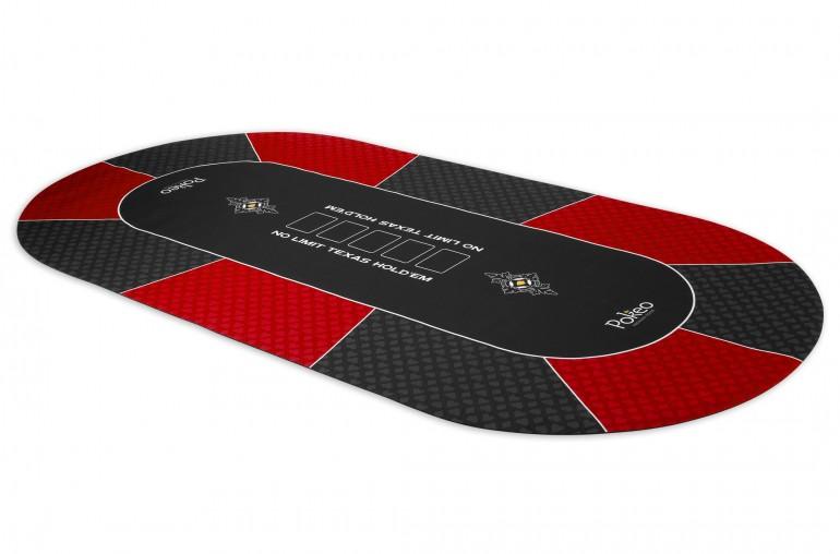 Tapis de Poker 180x90 Pokeo Deluxe Rouge