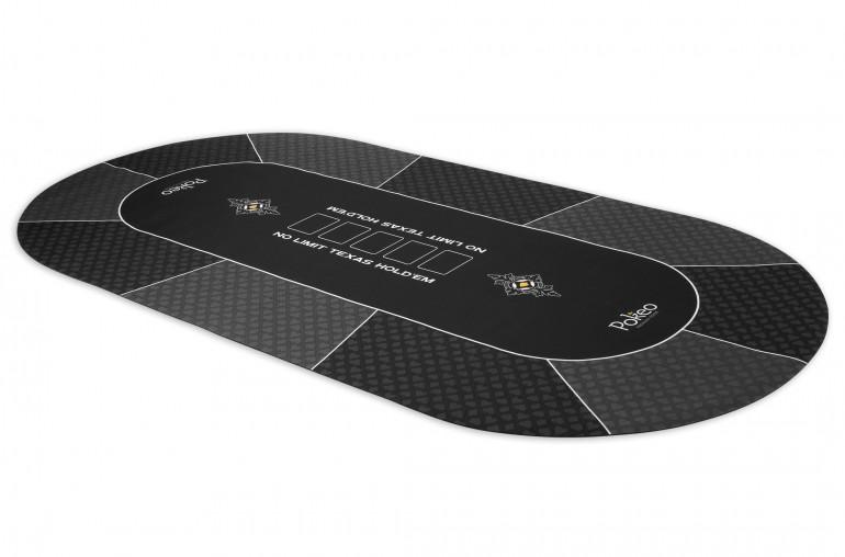 Tapis de Poker 180x90 Pokeo Deluxe Gris