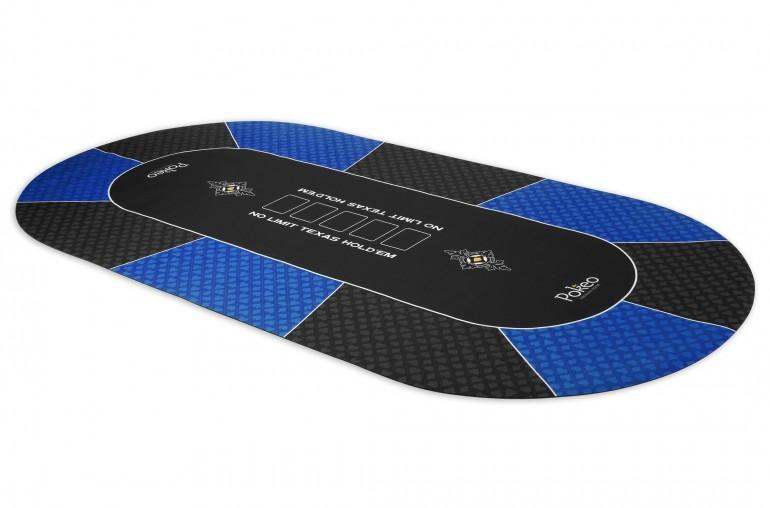 Tapis de Poker 180x90 Pokeo Deluxe Bleu